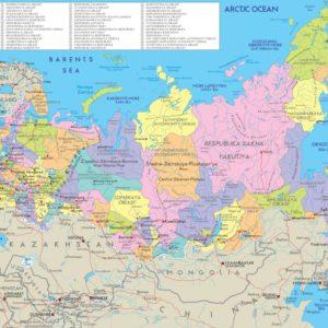 Carte de la Russie arctique
