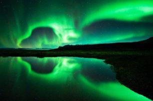 Vidéo d'une aurore boréale islandaise