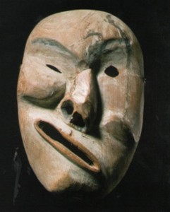 masque en bois du yukon