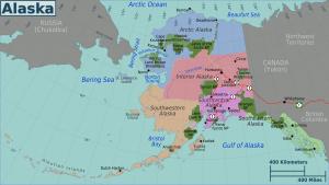 carte de l'alaska