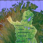 carte des lacs de laponie finlandaise