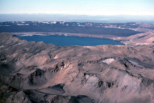 photo du volcan islandais Askja