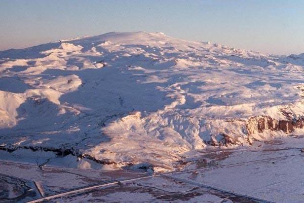 photo du glacier islandais Eyjafjallajokull