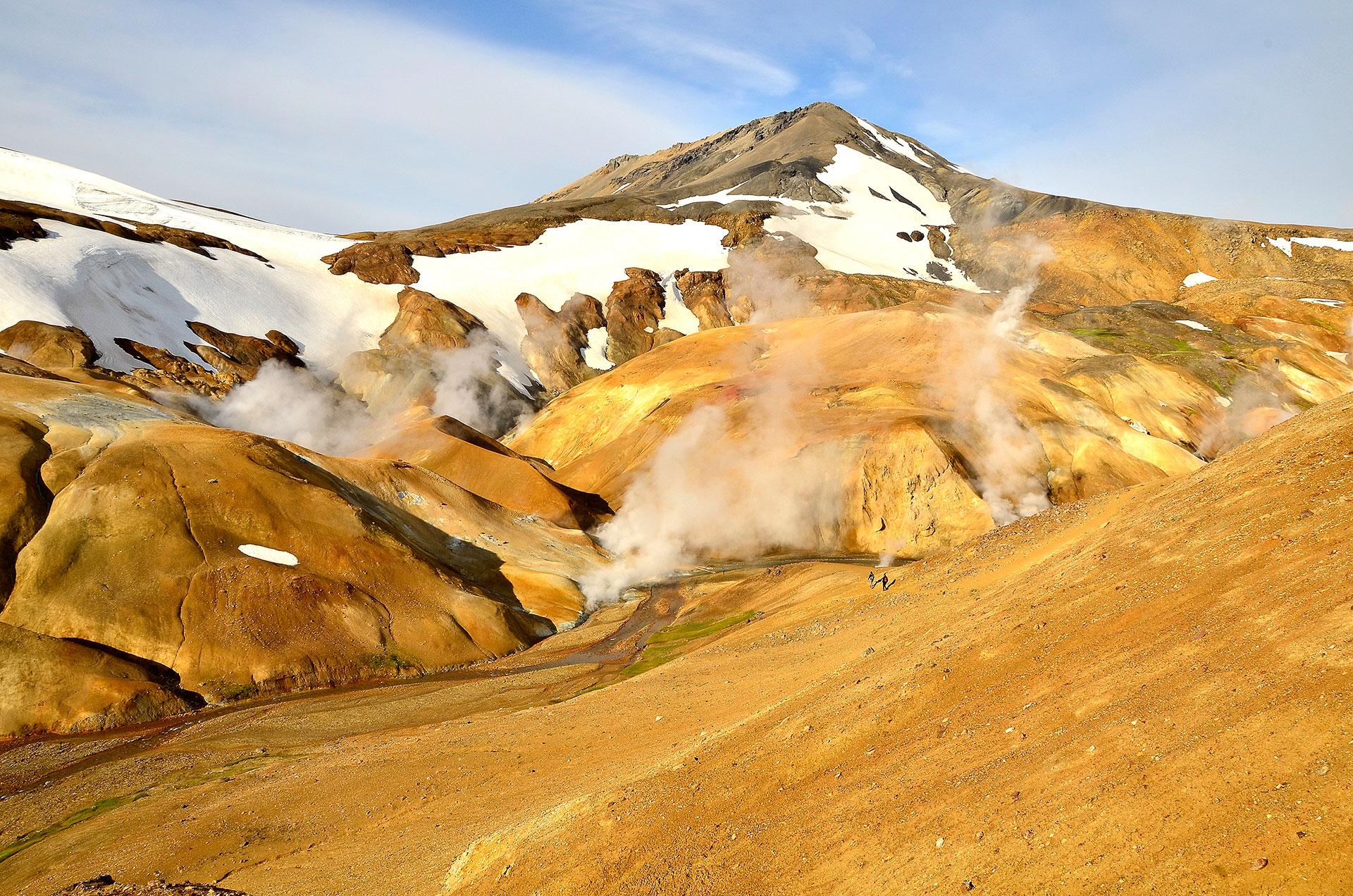 Photo du Volcan islandais Kerlingarfjöll