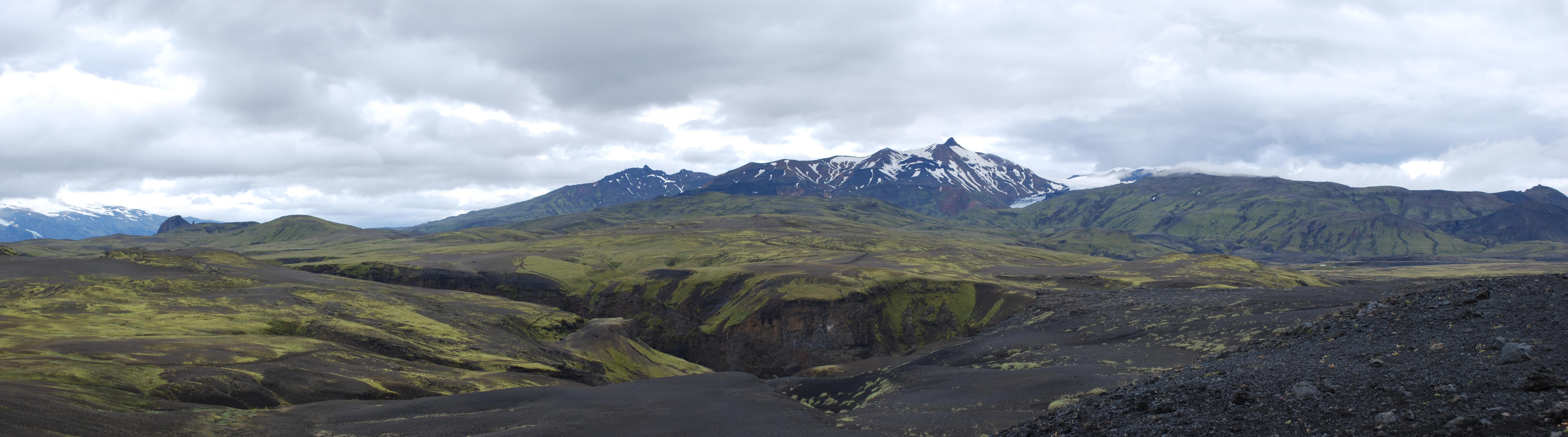 Photo du Volcan islandais Les Tindfjöll