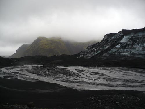 photo du glacier islandais Myrdasjökull