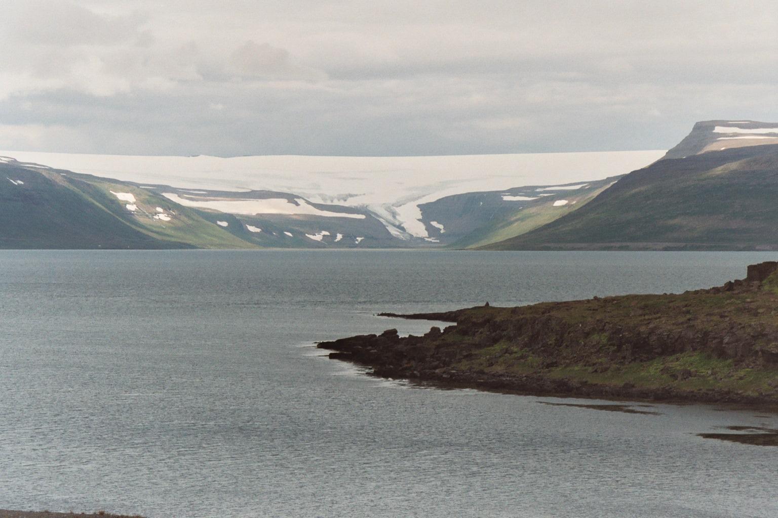 photo du glacier islandais Drangajökull