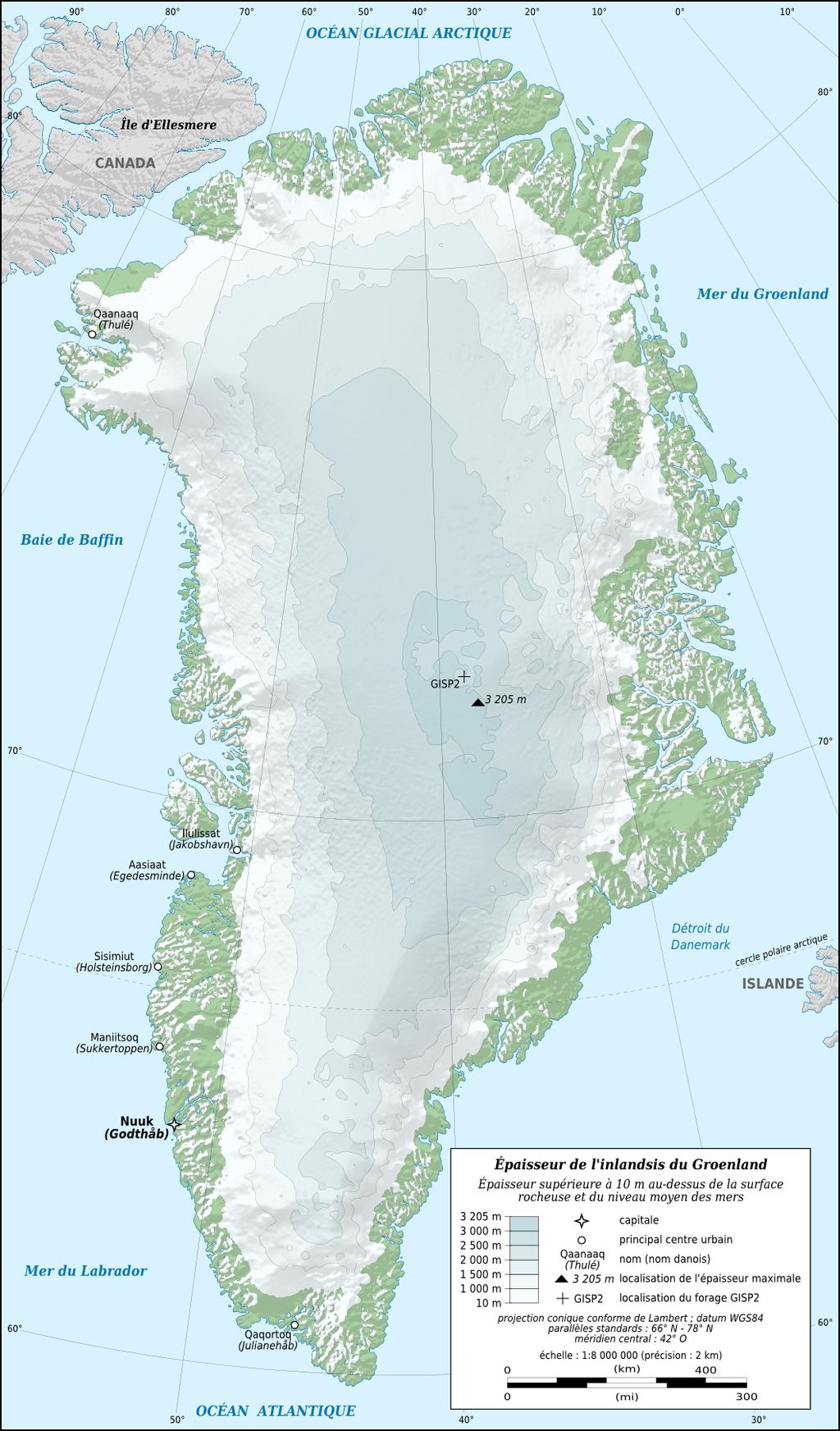 carte inlandsis groenlandais