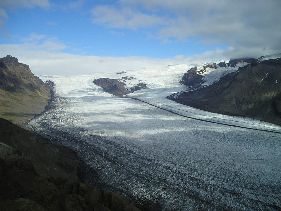 photo d'un glacier groenlandais