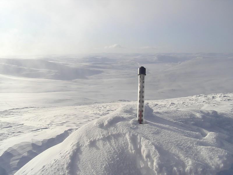 Températures les plus basses dans l'arctique