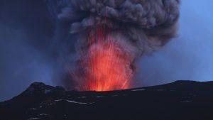photo du katla en éruption