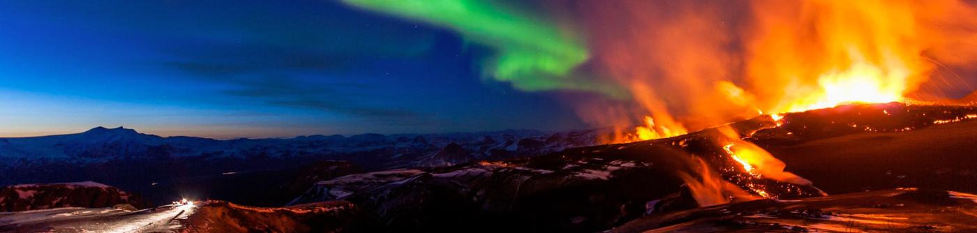 photo du volcan katla
