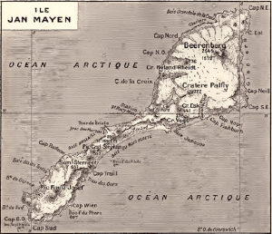 carte ancienne de l'ile Jan Mayen