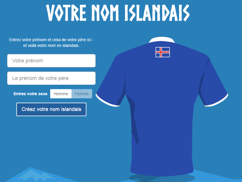 site transformant votre nom et prénom français en islandais