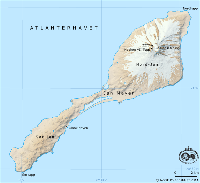 carte de l'île Jan Mayen