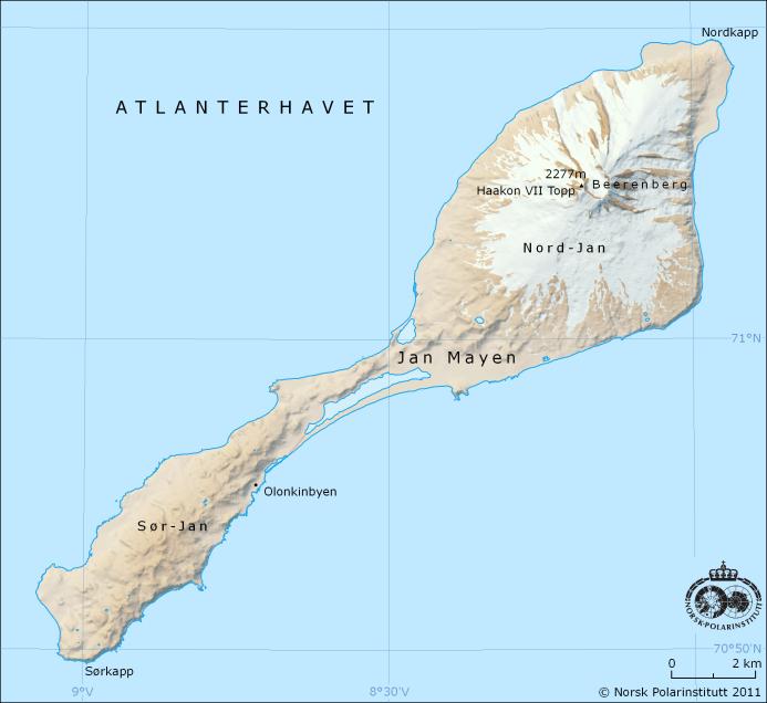 carte de l'île Jan Mayen