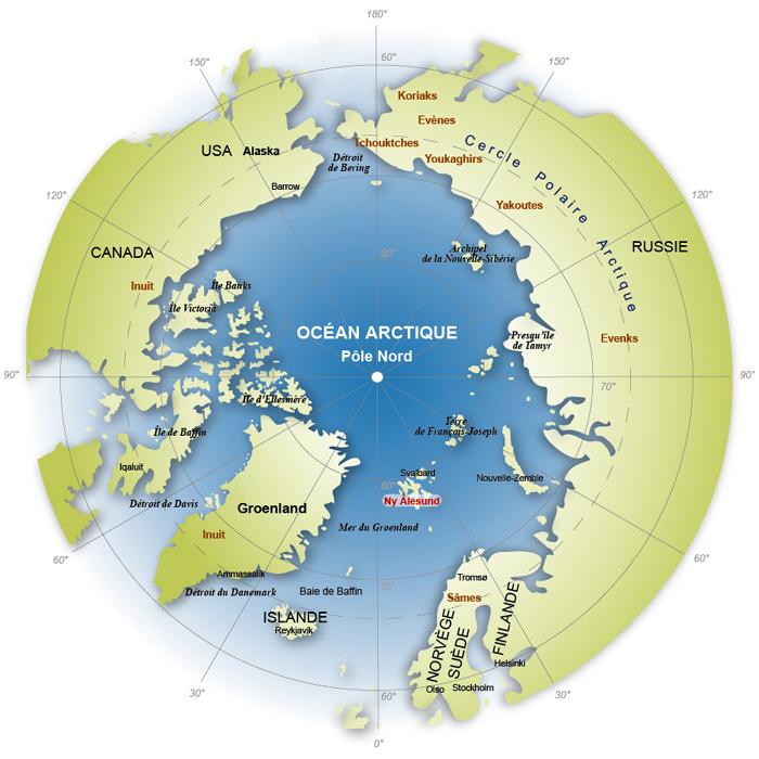 Arctique les chiffres des superficies