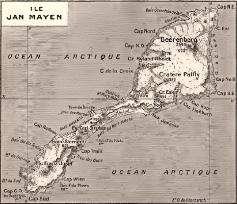carte ancienne ile jan mayen norvege