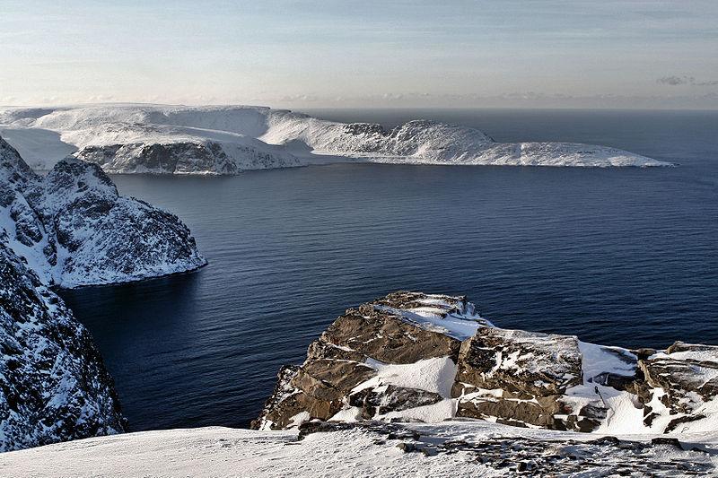 photo de Knivskjellodden ile mageroya norvège