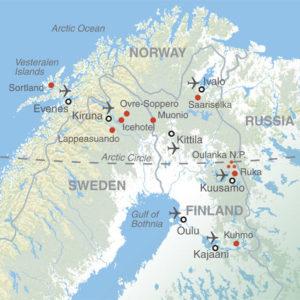carte Norvège arctique