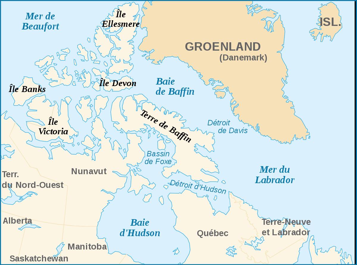 carte de l'ile de baffin