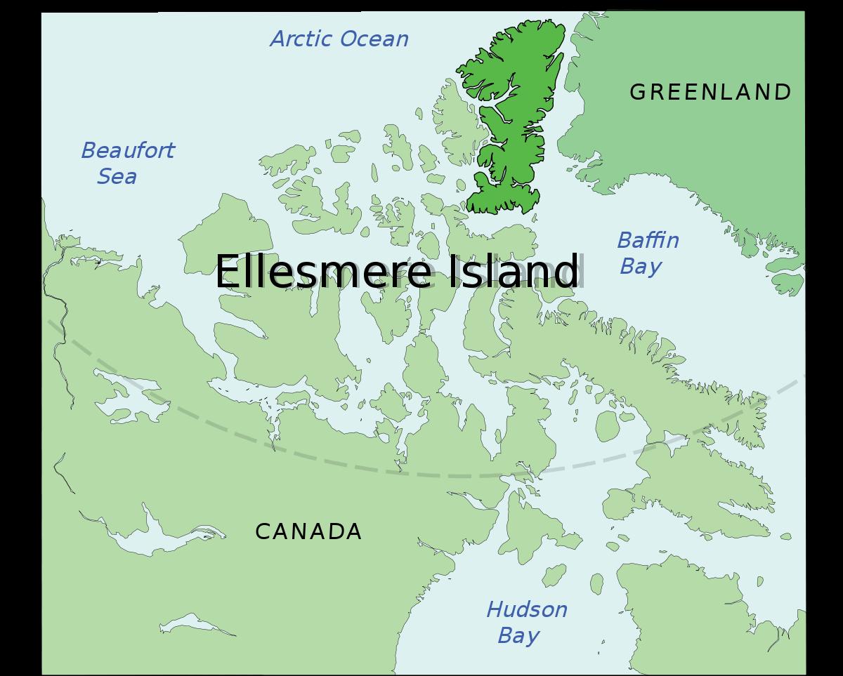 carte de l'ile d'ellesmere
