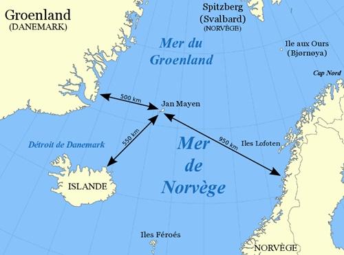 carte ile jan mayen norvège