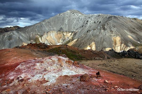 Photo du volcan islandais Bláhnúkur