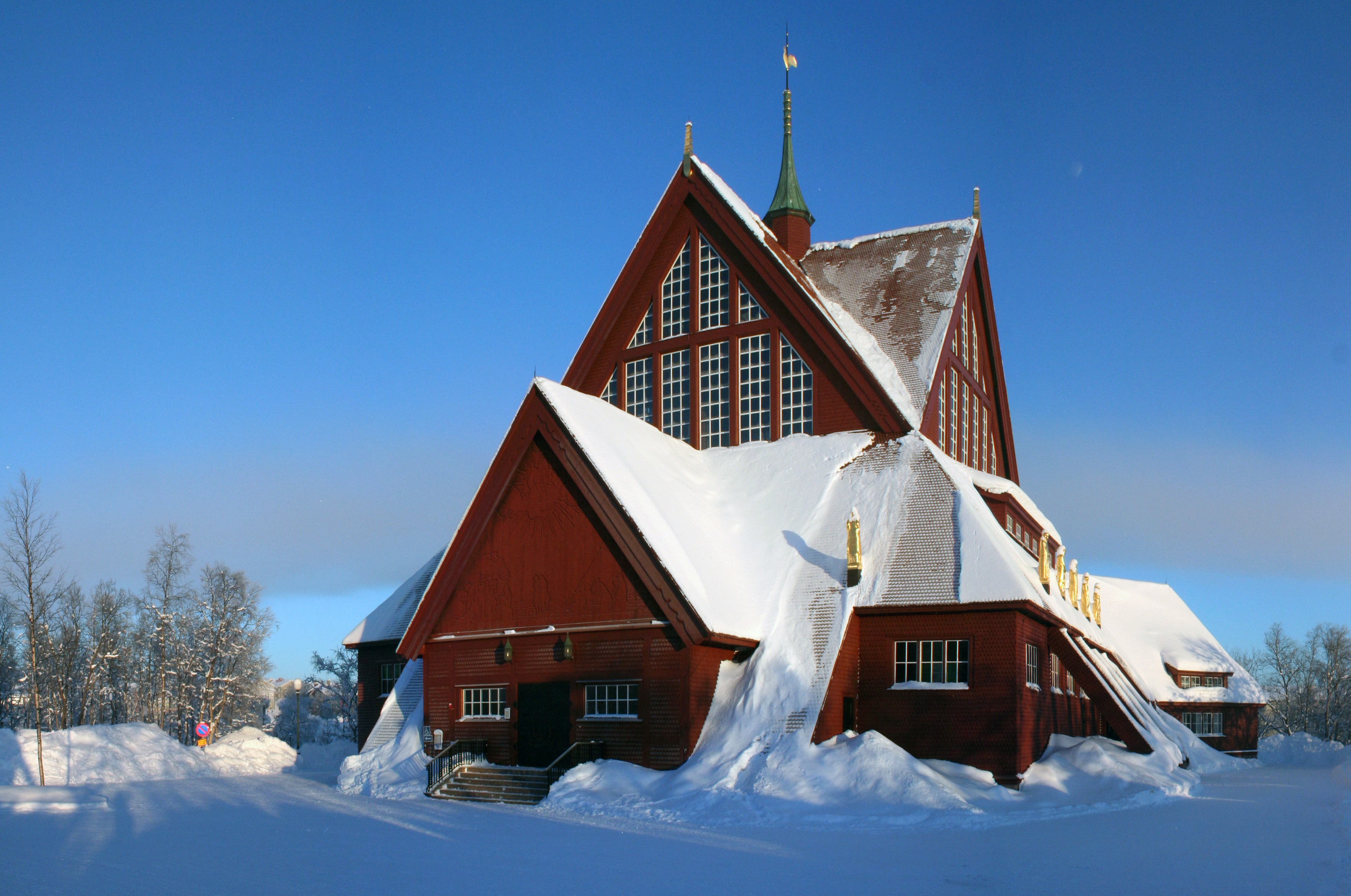 photo de l'église de kiruna