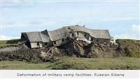 camp militaire russe après fonte du permafrost