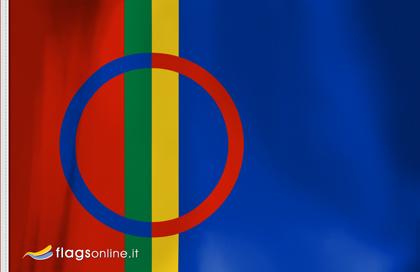 drapeau sami avec lien vers l'hymne sami